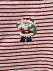 Santa's Helper Embroidered Footie