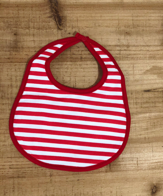 Red Striped Bib