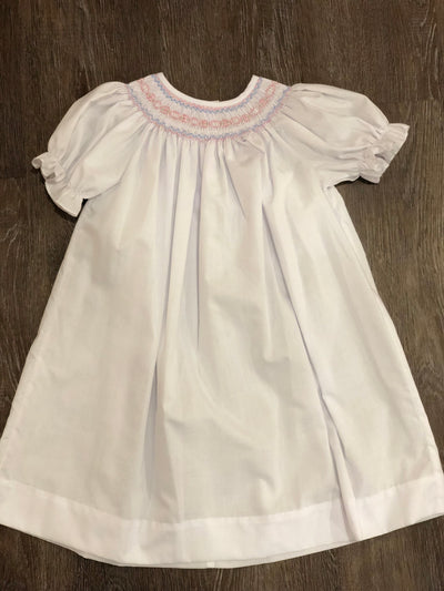 Geometric Smocked White Bishop