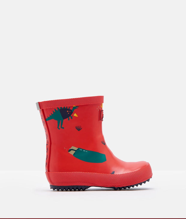 Printed Red Dino Rain boots