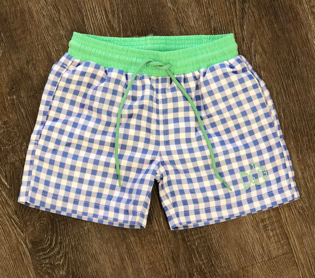 Swim Trunks - Cornflower Blue Gingham