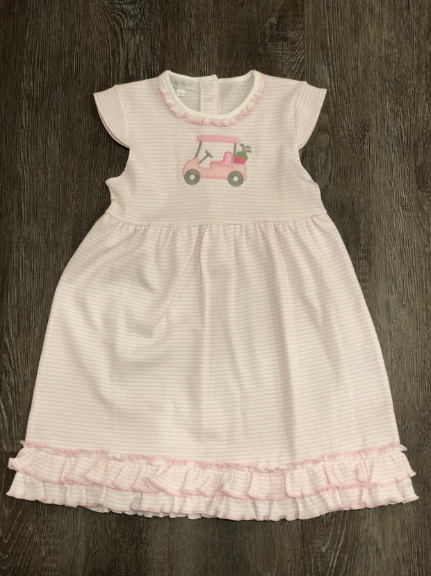 Tee Time Applique Toddler Dress