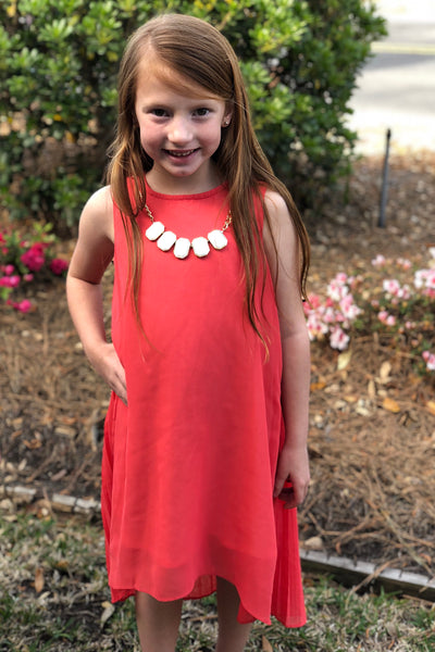 Coral Pink Necklace Dress