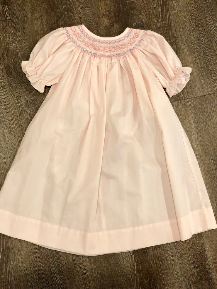 Geometric Smocked Pink Bishop