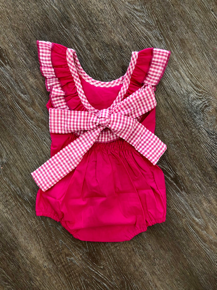 Hot Pink Bow Back Bubble