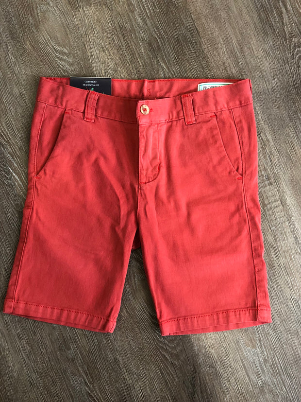 Patriot Club Shorts - Faded Red
