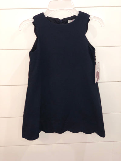 Navy Scallop Dress