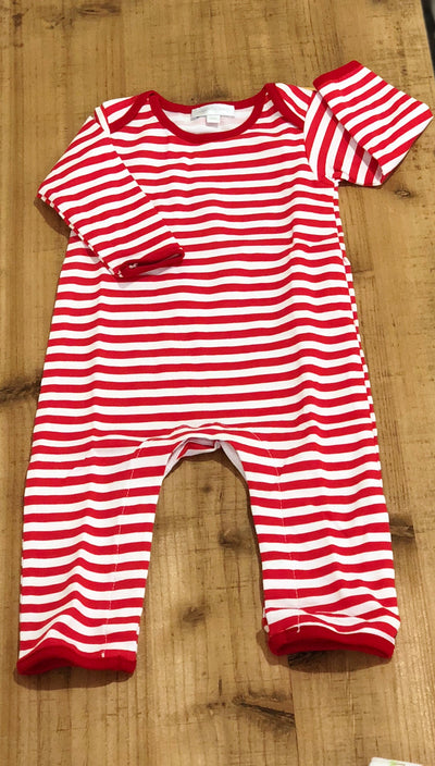 Red Striped Essentials Playsuit