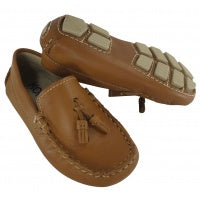 Driving Moccasin with Tassels - Natural