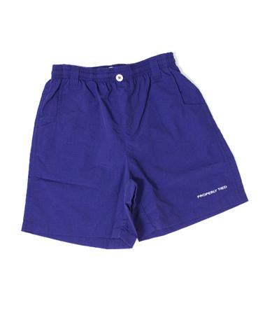 Lil' Ducklings Mallard Fishing Short - Navy