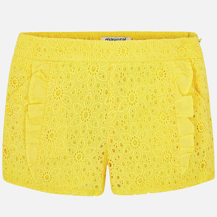 Yellow Ruffle Shorts