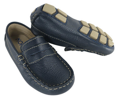 Driving Moccasin Penny Loafer - Navy