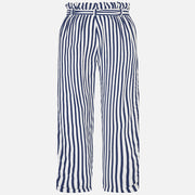 Navy Striped Pants