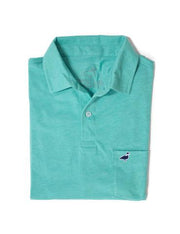 Lil' Ducklings Pocket Polo - Heathered Green