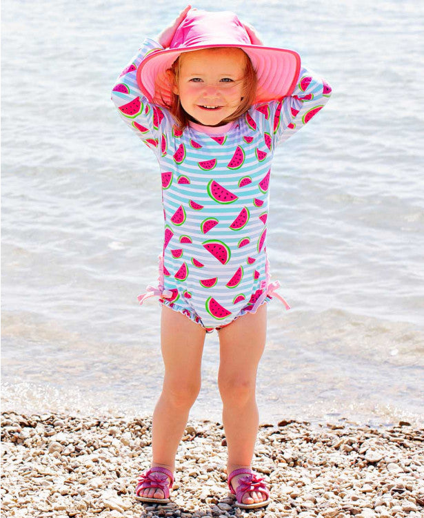 Whimsy Watermelon One Piece Rash Guard