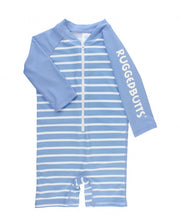 Cornflower Blue Stripe One Piece Rash Guard