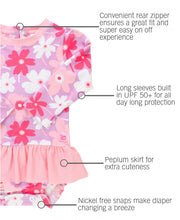 Happy Petals Peplum One Piece Rash Guard