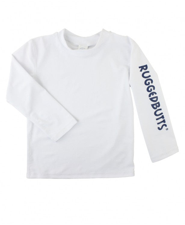 White Logo Long Sleeve Rash Guard