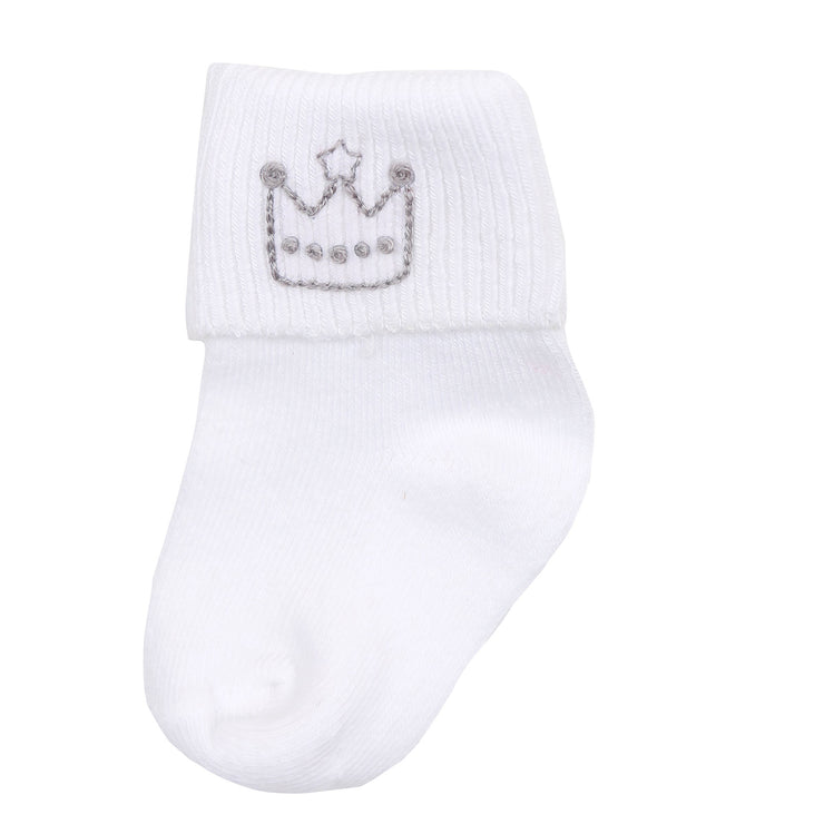 Royal Baby Embroidered Sock
