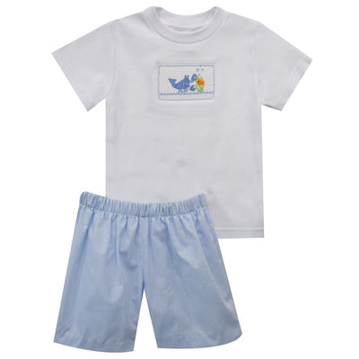 Lobster Smocked Boys Short Set
