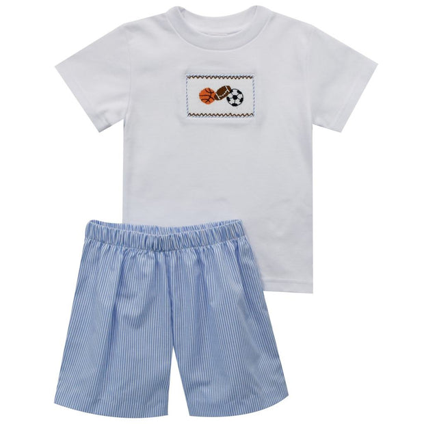 Sport Smocked Boys Short Set