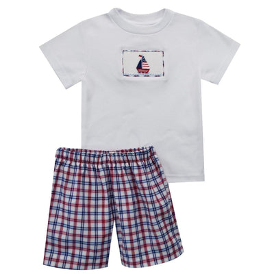 Sailing Smocked Boys Short Set