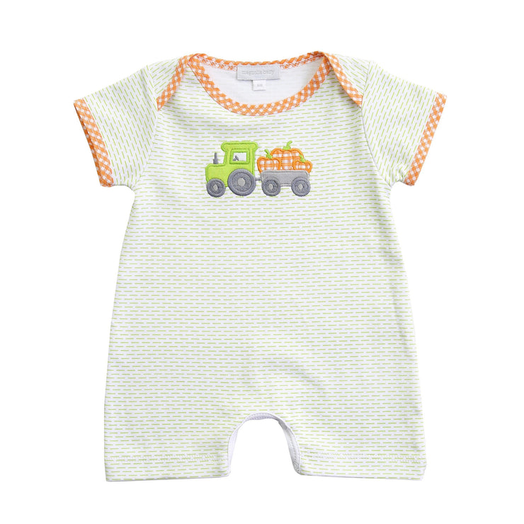 Pumpkin Tractor Playsuit