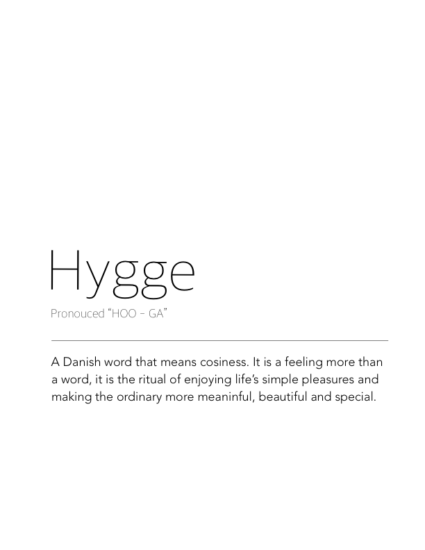 Finding Comfort Hygge Style