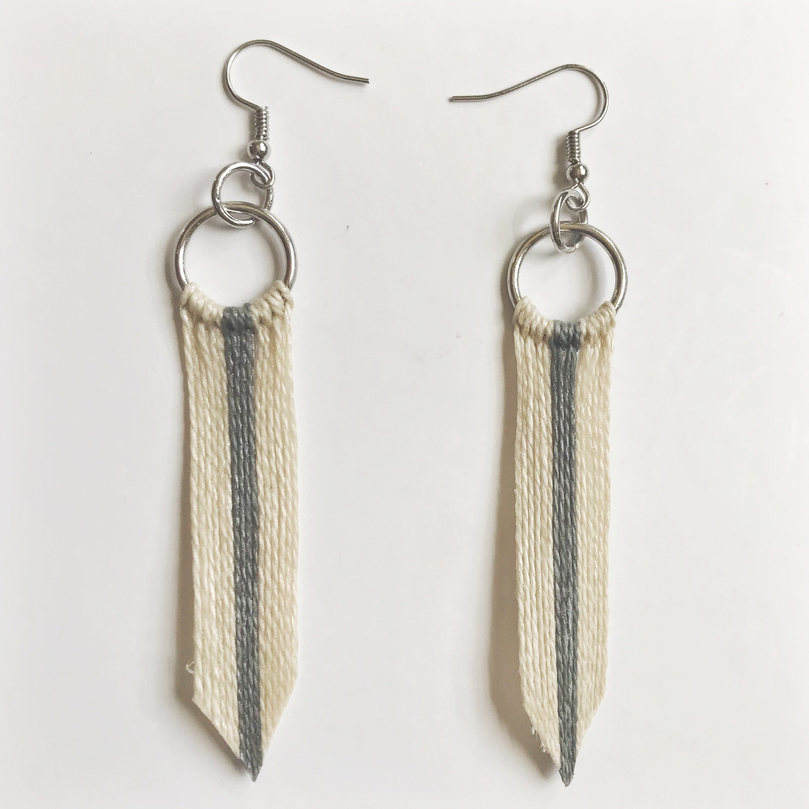 Silver Lining Tassel Hoop Earrings