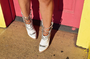 Chain Moto Boots - She's So Clutch