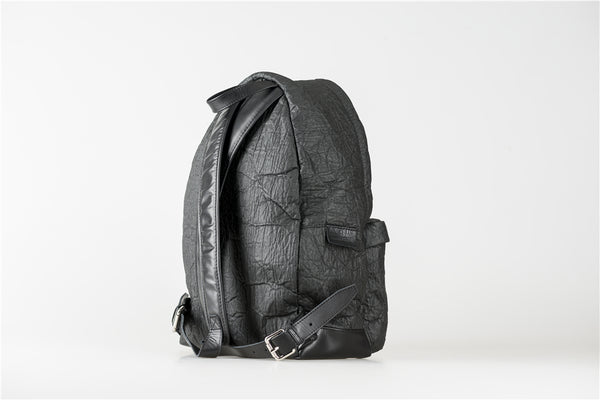 black piñatex backpack, sustainable fashion, Eco Friendly clothing, and ethical fashion