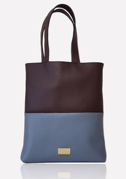 VILMA Color-Block Minimalist Tote