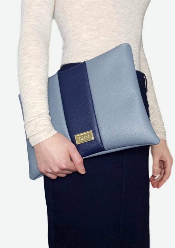 VILMA Color-Block Minimalist Clutch