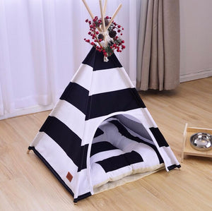Quirky Black and White Teepee