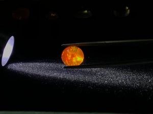 Mexican Opal, Contra-Luz, Faceted 10mm Round, Orange