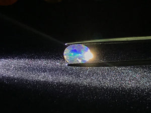 Mexican Fire Opal, Contra-Luz, faceted 8.5mm x 6.5mm oval, Clear