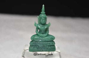 """The Emerald Sitting Buddha"" - Chrome Chalcedony"