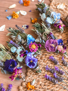 Dried Smudge Posy - Cool Tone