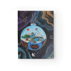 """Flat Balanced Earth"" Original Lotus Art Design Hardcover Ruled Line Journal"