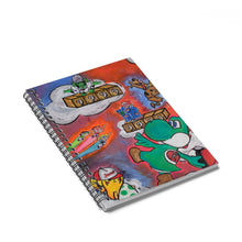 """Trippy 90's"" Original Lotus Art Spiral Notebook - Ruled Line"