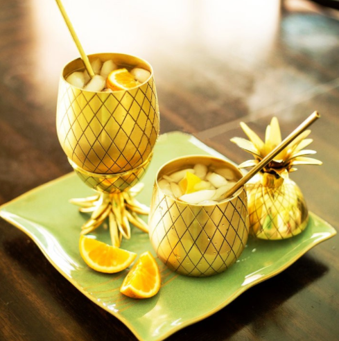 Pineapple Tiki Bar Mug Cocktail Tumbler Cups Mug