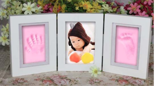 DIY Baby Hand & Foot Print Photo Frame Decor