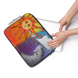 """Cloud 9 Production"" Sun & Moon Original Lotus Art Design Laptop Sleeve"