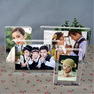 Transparent Double Sided Photo Picture Frame