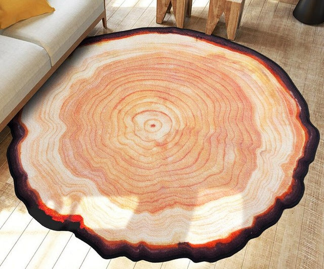 Tree Wood Carpet Rug