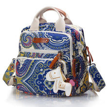 Mommy & Me Women & Kids Multifuctional Backpack Purse or Diaper Bag with Unicorn Horse Ornament