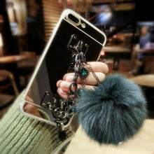 Luxury Fur Ball Chain Case for iPhone 7 & 7 PLUS ONLY