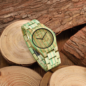 Men's Wooden Bamboo Wrist Watch
