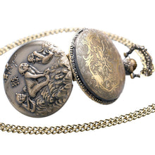 Vintage Chinese Zodiac Bronze Monkey Pocket Watch