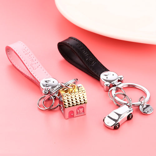House And Car Keychain for Couples